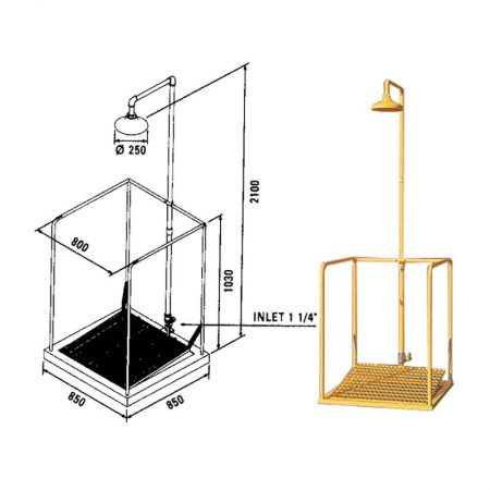 doccia decontaminazione Emergency shower