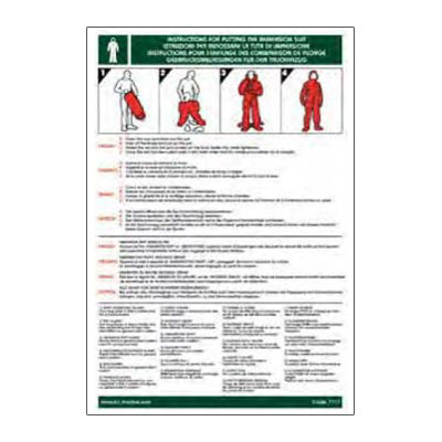 Instructions For Putting On The Immersion Suit Canepa Campi